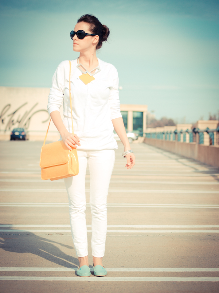 bittersweet colours, Mango, Ralph Lauren, Vince Camuto, vintage, yellow, Zara, street style, white on white,