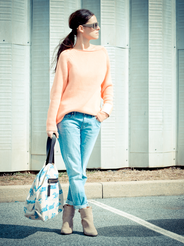 bittersweet colours, denim, French Connection, Levis, Marc by Marc Jacobs, Marni, outfit post, Zara, street style, pastels
