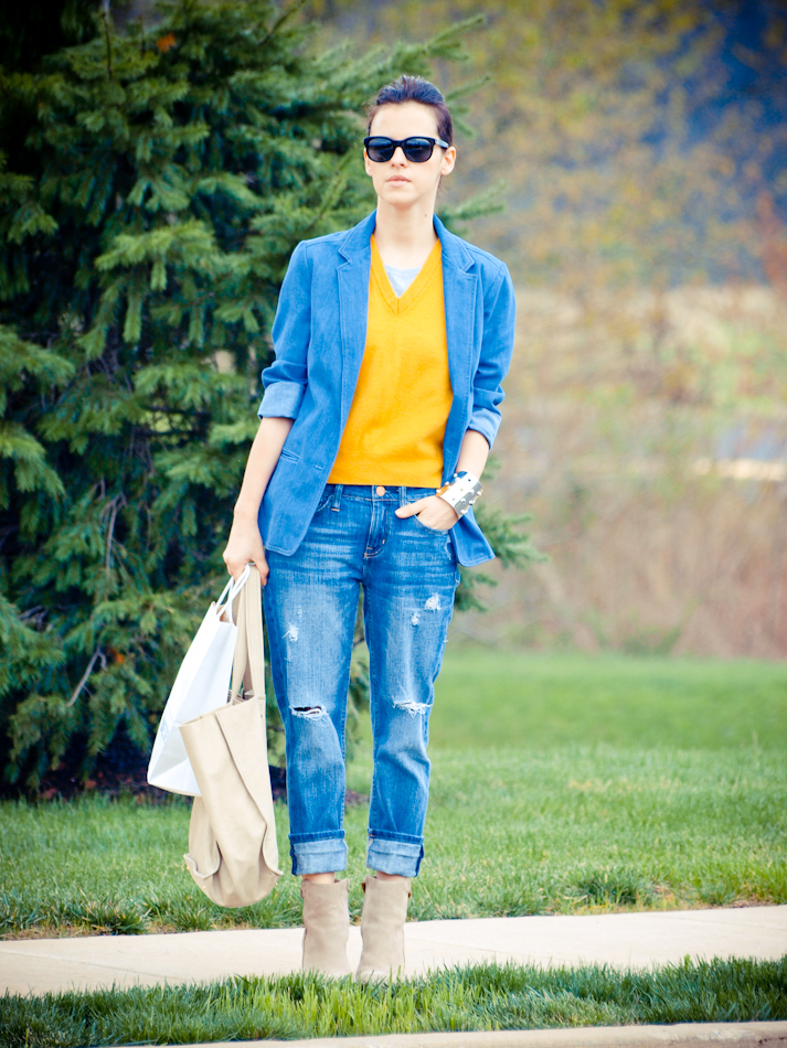 street style ,Benetton, bittersweet colours, COLORS, denim, denim trend, outfit post, Ralph Lauren, Spring trends, Vince Camuto, vintage, yellow vest, Zara
