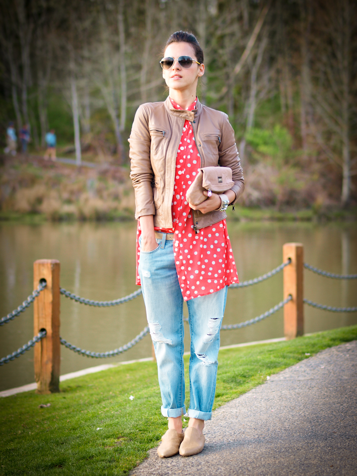 bittersweet colours, Calvin Klein Collection, COLORS, denim, Diesel, Levis, outfit post, polka dots, Portland trip, Prada, Spring trends, the shirt, street style