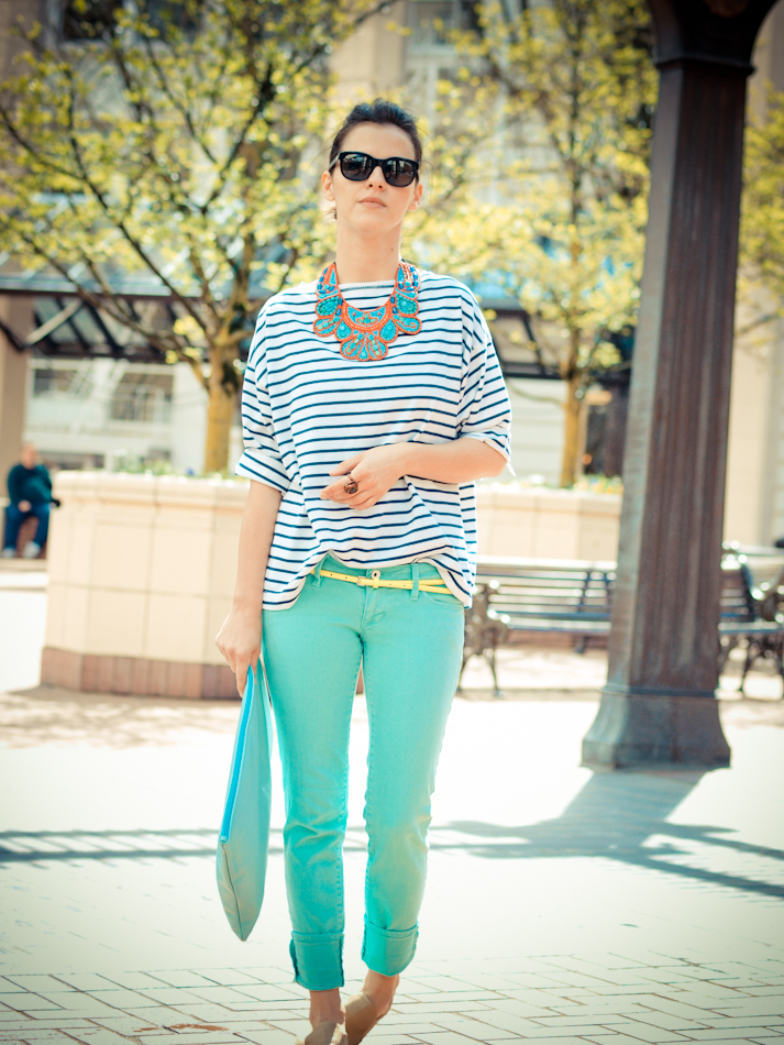 American Apparel, bittersweet colours, Calvin Klein Collection, COLORS, denim, outfit post, pastels, Portland trip, Ralph Lauren, Spring trends, stripes, vintage, street style