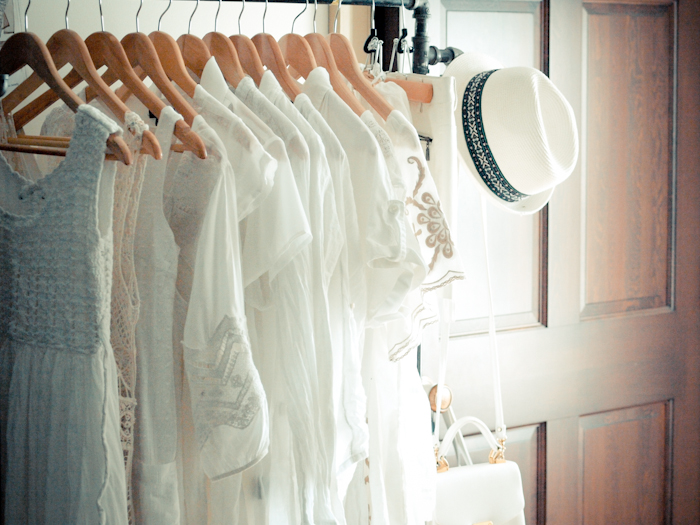 bittersweet colours, details from my closet, details, closet organization ideas, white closet, summer fashion