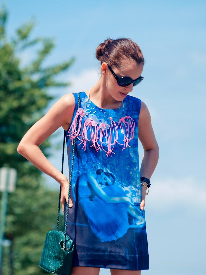 bittersweet colours,Street style, summer fashion, mini dress, diy jewelry, round sunglasses
