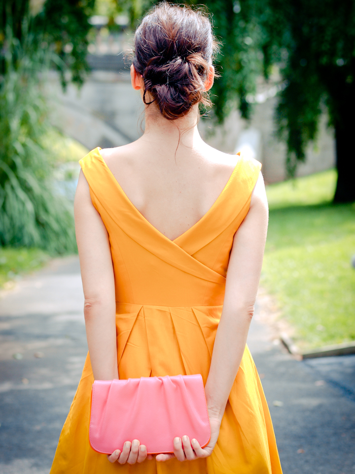 bittersweet colours, street style,  bhldn dress, yellow dress,