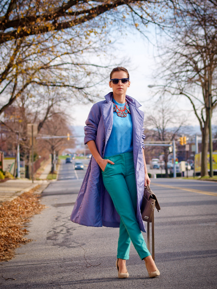 bittersweet colours, fall street style, street style, fall coat, pastels,  colorful coats, colors,