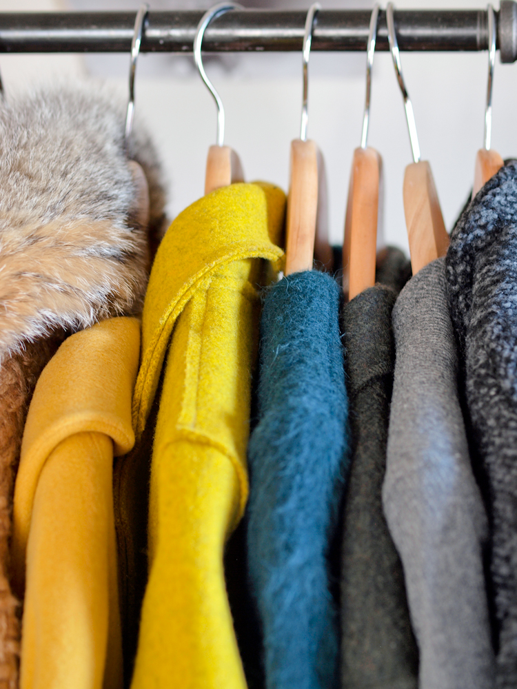 bittersweet colours, details from my closet, colorful coats, closet organization ideas,