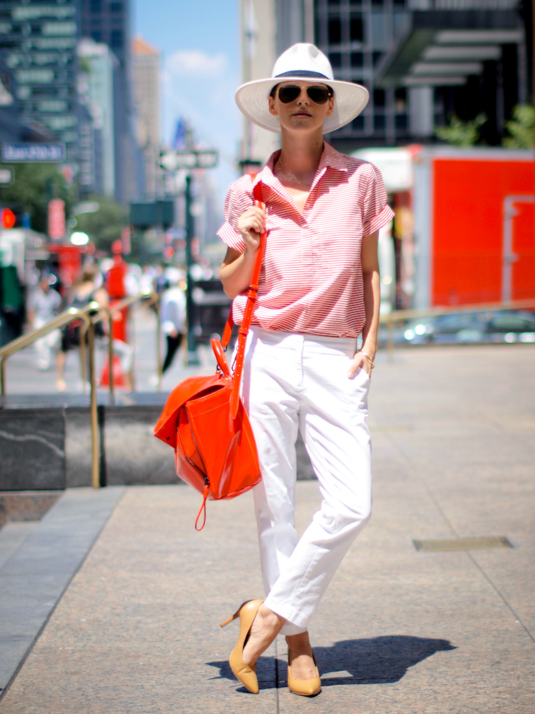 bittersweet colours, stripes, Joe fresh, Tommy Hilfiger, white on white, Gorjana jewelry, 3.1 Phillip Lim, RED, New York, street style, Summer 2013 trends