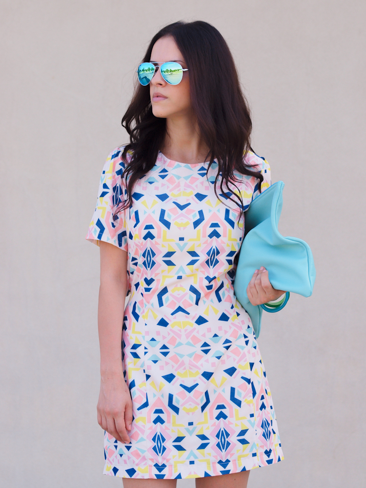 bittersweet colours, American Apparel, Joe fresh, Zara, prints, pastels, Summer 2013 trends, mirrored sunglasses, street style, geometric prints, pastel trends,summer dresses