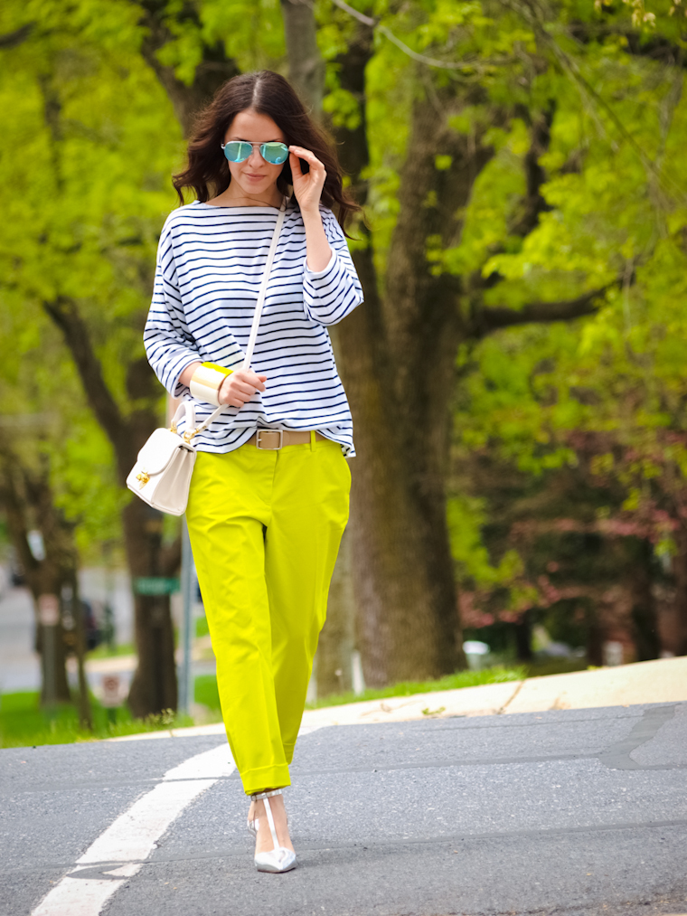 bittersweet colours, 3 Bittersweet colours combination, street style, stripes, metallics trend, 3.1 Phillip Lim, Zara, New York, J Crew, Joe fresh, COLORS, mirrored sunglasses, Summer 2013 trends,