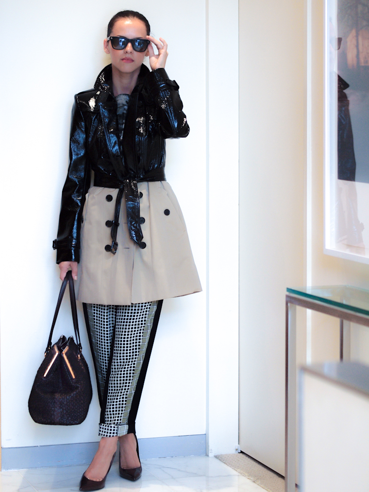 bittersweet colours, Americana Manhasset, Hirshleifers, New York, Styling Session, BURBERRY coat, Ohne Titel at Intermix, Lanvin, Bottega Veneta bag, Saint Laurent, 2014 Collections, Fall trends, prints,