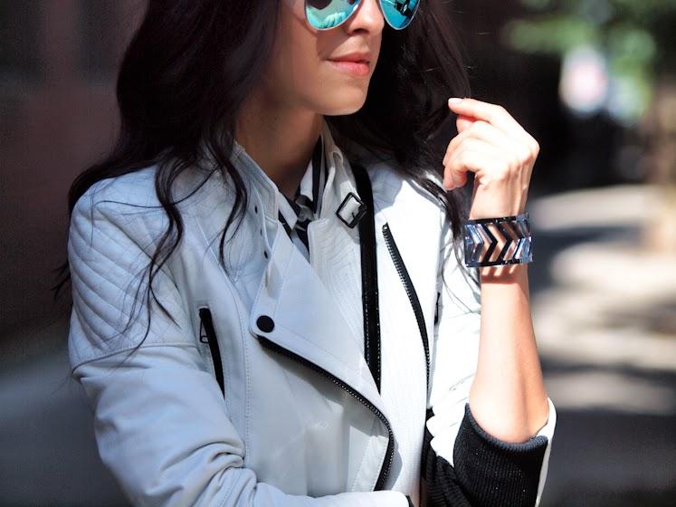 bittersweet colours, New York, NYFW, nyfw 2013, street style, stripes, Grids prints, Joe fresh, 3.1 Phillip Lim, miu miu, Mcginn, cooee jewelry, metallics trend, mirrored sunglasses,