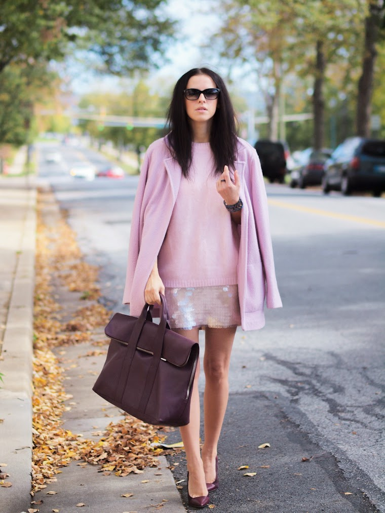 bittersweet colours, pale pink, PINK TREND, fall 2013, Fall trends, 3.1 Phillip Lim, Sam Edelman, HM, cooee jewelry, Chloe, NY&CO, street style,burgundy color, burgundy trend,