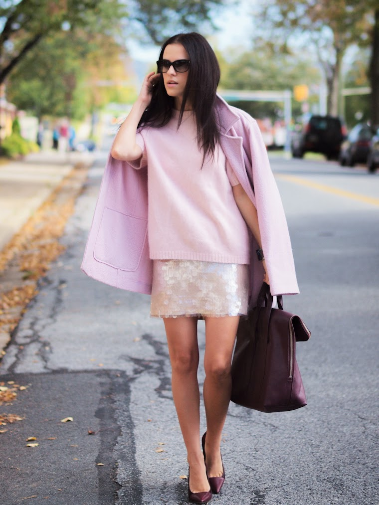 bittersweet colours, pale pink, PINK TREND, fall 2013, Fall trends, 3.1 Phillip Lim, Sam Edelman, HM, cooee jewelry, Chloe, NY&CO, street style,burgundy color, burgundy trend