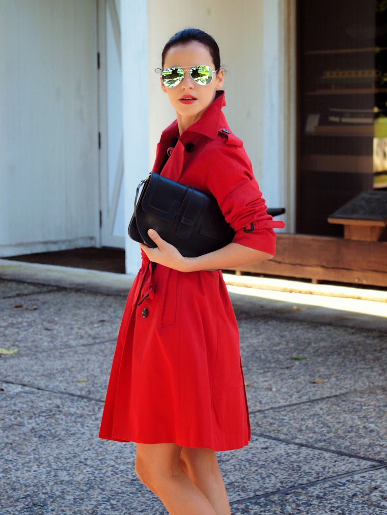 bittersweet colours, fall 2013, Fall trends, harlyn, HUNTER, metallics trend, mirrored sunglasses, miu miu, RED, street style, Trench coat,