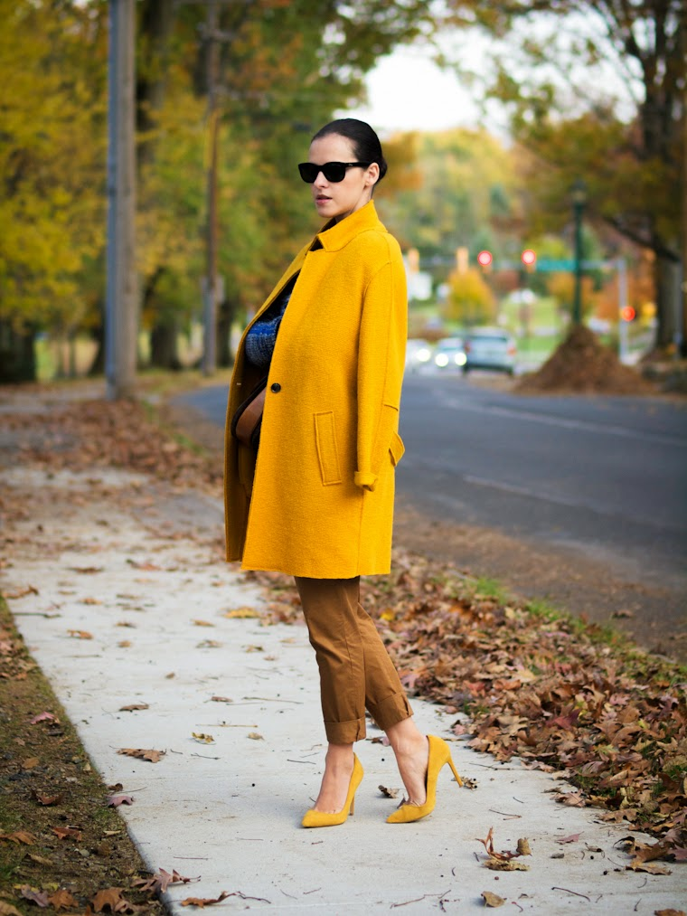 bittersweet colours, Celine, COLORS, fall colors, Fall trends, mustard color, Plaid trend, Shoemint, street style, vintage, Zara, Ralph Lauren,