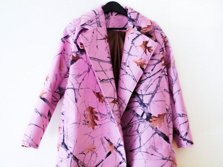 bittersweet colours, DIY, diy coat, Pink coat, fall colors, Fall trends, fall 2013, prints, leaves prints, PINK TREND, PINK,