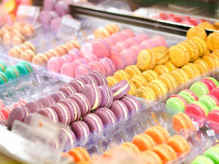 New York, macarons,