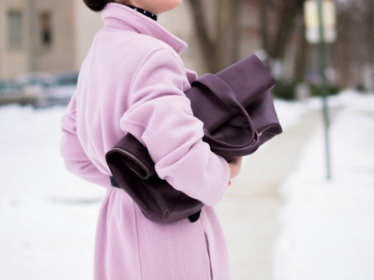 bittersweet colours, pastel trends, winter pastels, polka dots, Pink coat, PINK TREND, 3.1 Phillip Lim, Mango, Chloe, Levis, street style, winter trends, Ralph Lauren,