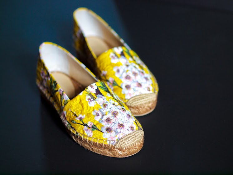 bittersweet colours, dolce & gabbana, dolce & gabbana espadrilles, floral espadrilles, COLORS, yellow, floral prints, new in, Memorial Day Sale, Summer trends,