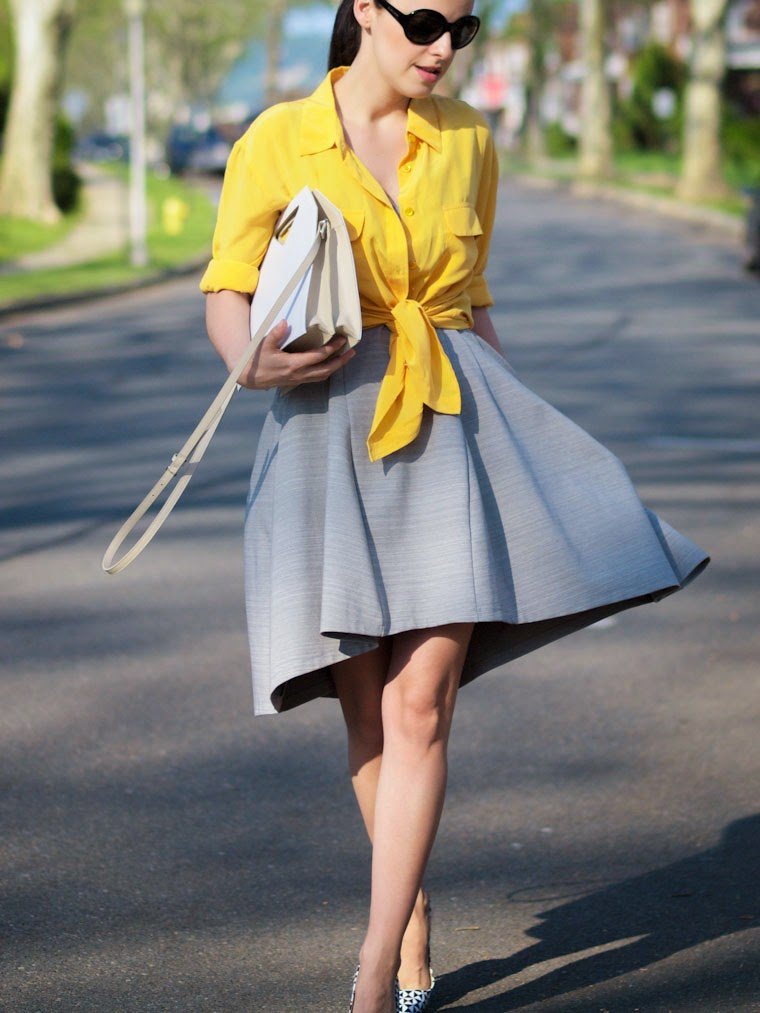bittersweet colours, J.Crew shoes, obakki dress, equipment shirt, yellow shirt, street style, summer, IMAGO-A bag, geometric prints, giveaway,