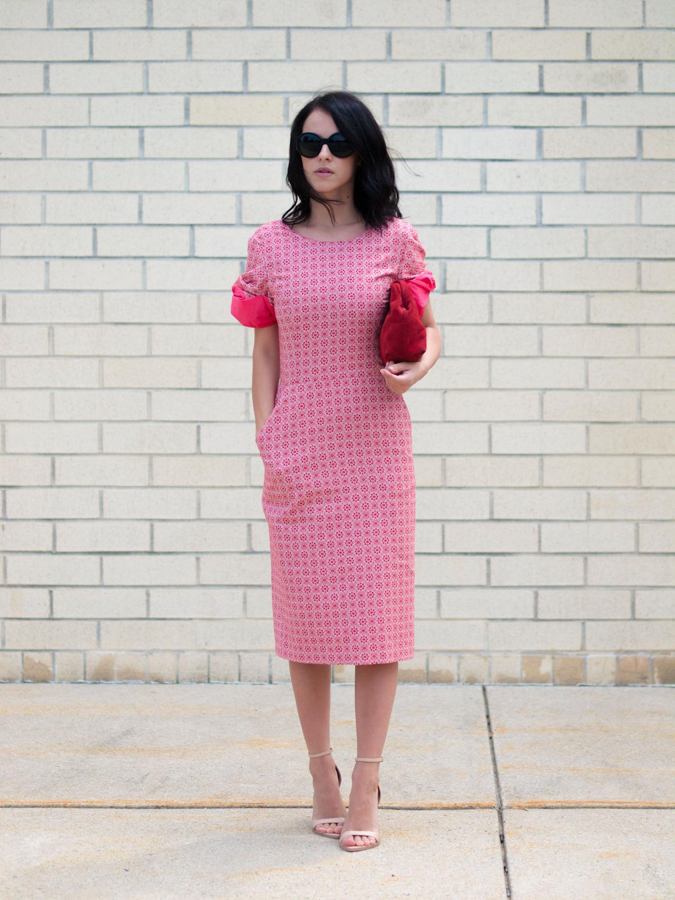bittersweet colours, tia cibani dress, Tia Cibani, printed dress, prints, zara sandals, nude sandals, vintage clutch, summer dress, street style