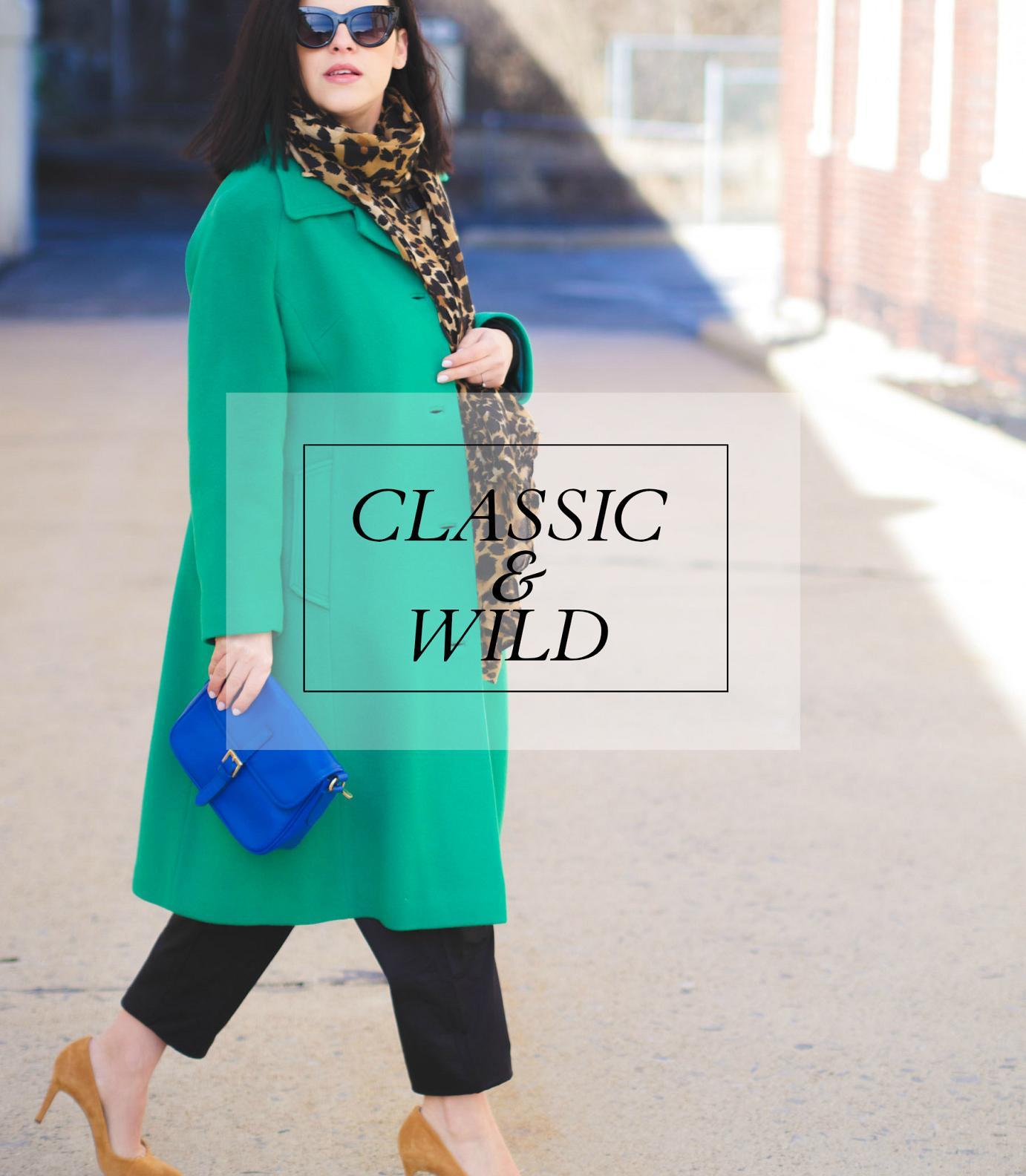bittersweet colours, street style, leopard print, green coat, vintage, maternity style, 31 weeks,